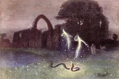 Will-o-the-wisp and Snake, Hermann Hendrich, 1823.