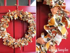 Adorable Thanksgiving ribbon wreath.