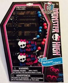 Monster High Best Ghoul Friends Necklaces New in Package Jewelry | eBay