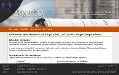 Planung, Design und Entwicklung der Webseite baugutachter.cc für HANNES, Remscheid - baugutachter.cc