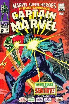 MARVEL SUPER-HEROES 13 CAPTAIN MARVEL BRONZE AGE MARVEL COMICS