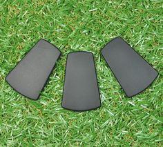 Trapezoid Silicone Bead 3pk - Smokey Black - Silicone Beads Australia™