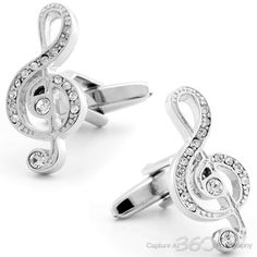Cufflinksman - Fine Men's Jewelry - MUSIC IS THE FOOD OF LOVE CUFFLINKS #shopping #cufflinks