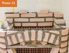CONSTRUTORA SOUSA: Churrasqueira de tijolos, em 22 passos. Barbecue, Wood, Crafts, Masonry Bbq, Bricks, Cookers, Ovens, Creative Crafts, Creativity