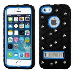 MYBAT Tread Texture TUFF eNUFF Case for iPhone 5/5S - Blue/Black