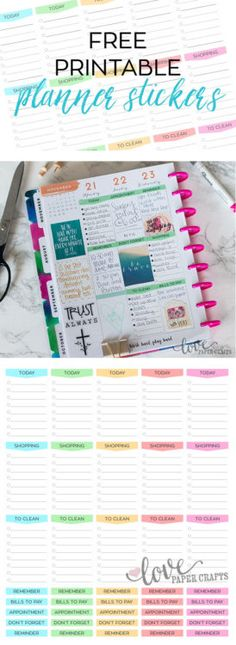 Free Functional Planner Stickers | LovePaperCrafts.com