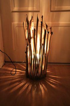 stehlampe aus holz selber machen – bizfast, Moderne