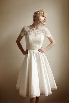 Vestido de novia corto vintage