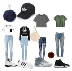 """""""Untitled #338"""" by phine48 ❤ liked on Polyvore featuring NIKE, Freaker, adidas Originals, WithChic, T By Alexander Wang, adidas, Topshop, Yves Saint Laurent, Yves Salomon and Charlotte Russe"""