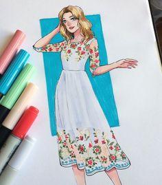 Dress Design Sketches, Fashion Design Sketchbook, Fashion Design Drawings, Fashion Sketches, Fashion Drawing Dresses, Fashion Illustration Dresses, Fashion Illustration Tutorial, Croquis Fashion, Fashion Design Template