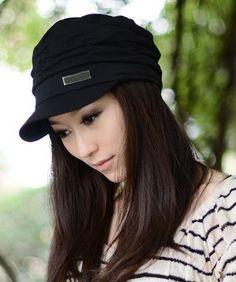 Casquette fashion plissée style aviateur noir - bestyle29.com