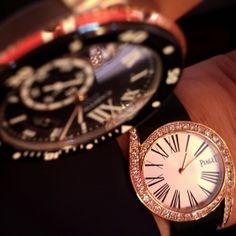 Limelight Gala watch in pink gold set with 62 brilliant-cut diamonds. Piaget 690P quartz movement.