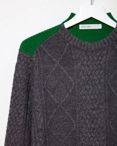 Sacai Luck | Colorblocked Cable-Knit Sweater | La Garçonne