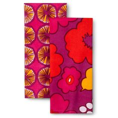 Marimekko for Target Kitchen Towels 2 Count - Kukkatori & Appelsiini Print