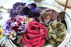 Vintage millinery flowers.