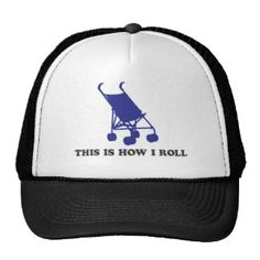 Baby Stroller - This is How I Roll Mesh Hat Popular Colors, Baby Strollers, Hot Pink, Mesh, Brown, Hats, Blue, Stuff To Buy, Style