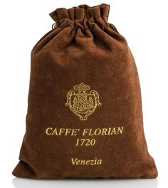 Pure cocoa Caffè Florian's finest quality pure Cocoa (100% Cocoa) packaged in velvet bags.  200 gr - 7 oz
