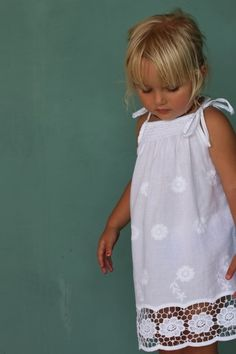 Beautiful Ginger Dress - White Poppy from coco and ginger Little Girl Dresses, Little Girls, Girls Dresses, Flower Girl Dresses, Flower Girls, Bohemian Girls, Modelista, Sewing For Kids, My Baby Girl