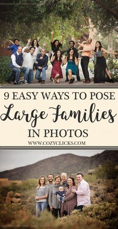 Are you a photographer nervous about posing a large family? Read these 9 simple ways you can pose large family group right here!