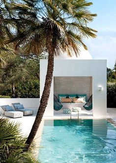 Outdoor Rooms, Outdoor Living, Outdoor Retreat, Outdoor Lounge, Moderne Pools, California Cool, California Houses, Palmiers, Dream Pools