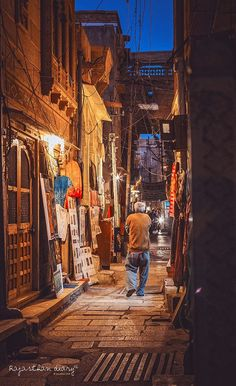 Back alley streets of Rajasthan