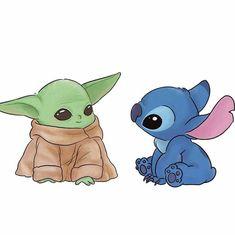 Cartoon Wallpaper Iphone, Cute Disney Wallpaper, Cute Cartoon Wallpapers, Cute Disney Drawings, Kawaii Drawings, Cute Drawings, Easy Cartoon Drawings, Cute Animal Drawings Kawaii, Star Wars Fan Art