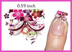 40 Nail Art Flower 072  Decal sticker Tattoo Nail Art by Tarlidada, $4.00 Nail Decals, Nail Stickers, Nail Tattoos, Nail Designs, Nail Art, Nails, Unique Jewelry, Handmade Gifts, Flowers
