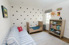 Modern Batman Kids Room - featuring super hero mask wall decals from @urbanwalls