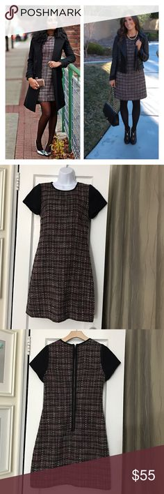 """Banana Republic Black Pink Tweed Shift Dress Work Excellent pre-owned condition, no flaws. Size 6. Such a pretty, classic dress. UA to UA 17"""", length 34.5"""". Reasonable offers are welcome! Banana Republic Dresses"""
