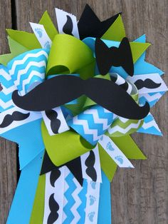 mustache baby showermustache mumbaby shower theme by bonbow, $18.99