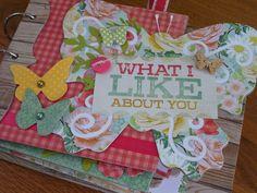 Chipboard mini albums - Butterfly album kit