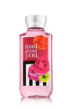 Bath & Body Works Mad About You Shower Gel 10 oz. Wash your way to softer, cleaner skin with a rich, bubbly lather bursting with fragrance. Moisturising Aloe Vera and Vitamin E combine with skin-loving Shea Butter in our most irresistible, beautifully fragranced formula!