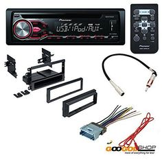 STEREO RECEIVER UNIT:Pioneer DEH-X2800UI (14 watts RMS CEA-2006/50 peak x 4 channels) Wireless remote control (QXE1047) * DASH KIT:GM-K420 Single DIN Installation Dash Kit,Includes a storage pocket below the radio * WIRE HARNESS: GWH-404 Wiring Harness for Select Buick Cadillac Chevrolet GMC Hummer Isuzu Oldsmobile Pontiac Vehicles * RADIO ANTENNA ADAPTER:10GM Antenna Adapter to Aftermarket Radio ,Converts mini GM to standard Motorola male when replacing factory radio. Quick and Easy Install