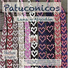 Pulseras de hilo con corazón Patuconicos hechas a mano en España hand maDe in SPAIN.