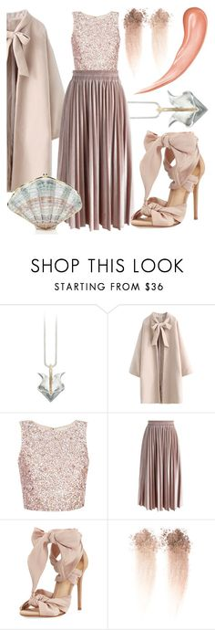 by avagoldworks on Polyvore featuring мода, Chicwish, Alexandre Birman, Too Faced Cosmetics, Judith Leiber and avagoldworks