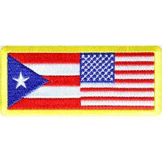 The USA Puerto Rico Patch Small Embroidered Patch measures inch. Iron on or Sew on Application. Embroidered Quality Flag Patch you can stitch on or iron on. Flag Patches, Iron On Patches, Red White Blue, Puerto Rico, American Flag, Stitch, Sewing, Full Stop, Dressmaking