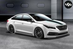 At SEMA next month John Pangilinan will present the Hyundai JP Edition Sonata. The tuned Sonata is equipped with a new bodykit, KW lower mounts, 19 inch wheels 19, special logos. The car also features AEM air filter, MagnaFlow exhaust, Recaro sports seats and Alpine audio system.