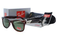 New 2014 Ray Ban Wayfarer Deep Brown Golden Sunglasses