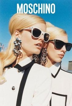 Moschino Spring 2013  Hanne Gaby Odiele and Juliana Schurig photographed by Juergen Teller.