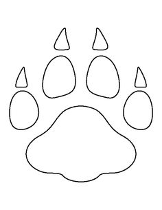 Leopard paw print pattern. Use the printable outline for crafts, creating stencils, scrapbooking, and more. Free PDF template to download and print at http://patternuniverse.com/download/leopard-paw-print-pattern/