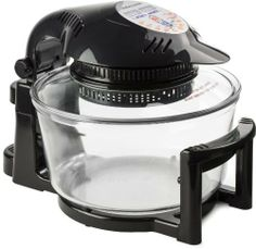 Andrew James 12 LTR Premium Black Digital Halogen Oven Cooker With Hinged Lid + Easily Replaceable Spare Bulb + 2 YEAR WARRANTY + 128 page Recipe Book - Complete with Extender Ring (Up to 17 Litres), Cake/Rice Dish, Toast Rack, Baking Tray, Steamer Tray, Skewers, High And Low Racks 1400 Watts, http://www.amazon.co.uk/dp/B00C20X8KU/ref=cm_sw_r_pi_awd_-B.Wsb1AV84S4