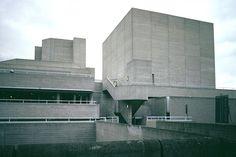 Royal National Theatre Sir Denys Lasdun 1967-77 Royal National Theatre, Hayward Gallery, Skyscraper, Centre, Multi Story Building, England, London, Photos, Art