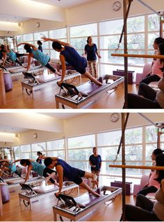Song & Joavien demonstrate the Star on the #Pilates Reformer, an advanced classical movement that is challenging even to seasoned instructors!  www.thepilatesflow.com.sg https://www.facebook.com/ThePilatesFlow