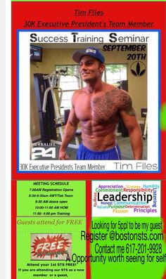 Don't miss this epic event, come learn how #TimFiles stays on his #nutrition plan, helps others get #results, #teaches us to do the same all while staying in love for what he does. See how he gives back by #payingitforward #loveyourcareerchoice #inspiration #motivation #balance #herbalife #opportunity #distributorship #entrepreneur #workfromhome #familylife #healthandwellnesscoach #bouncing2wellness #herbadivastephanieb