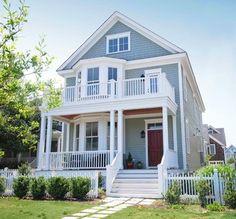 I D Prefer A Red Door Johanna Kjesbu Carolina Beach House Exterior Colors