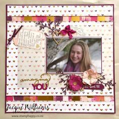 Painted with Love - Scrapbooking Layout #scrapbooklayouts