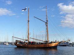 Wooden ship sailing in the Gulf of Finland.  #travel #finland #scandinavia #europe #helsinki #suomi #sailing #summer #nordic