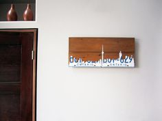 Toronto Skyline Art Poster - Handmade Vintage Rustic License Plate Art - White Plates on Etsy, $121.92