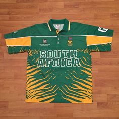 South Africa SA ICC Cricket World Cup 2003 Shirt Jersey Green Yellow Mens Large | eBay