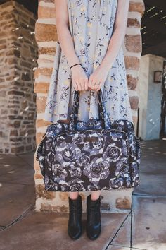 Black Petals- First Look - The best diaper bags For Moms and dads